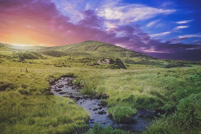 Evening, Twilight, Ireland, Landscape, Summer, Vacation