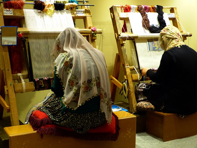 Weave, Tying, Carpet, Arbeiterinportrait, Weaver, Work