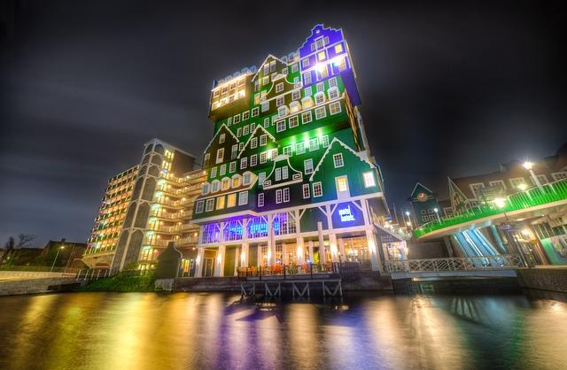 Zaandam, Netherlands, Typical Dutch, Houses, Facade