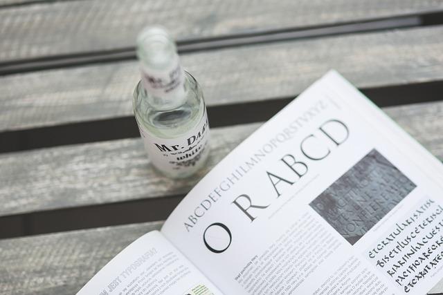 Typo, Typography, Book, Drink, Drinking, Bottle