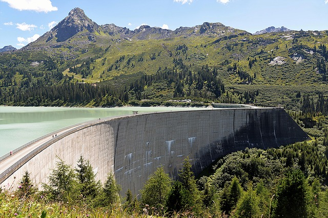 Kops Lake, Reservoir, Dam, Tyrol, Austria