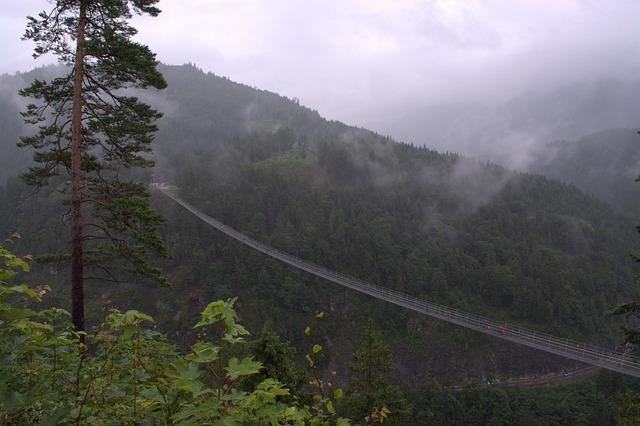 Pedestrian Suspension Bridge, Highline 179, Tyrol