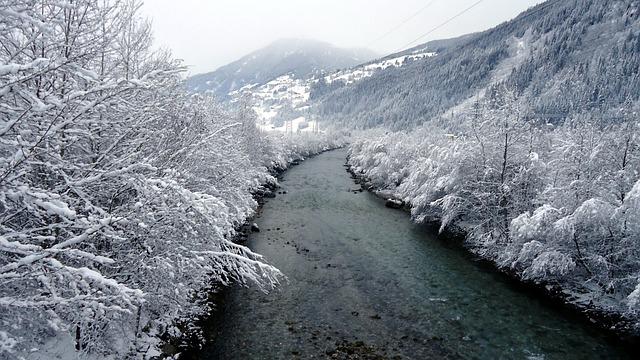 Zillertal, Tyrol, Snowy, Mountains, Winter, Snowfall