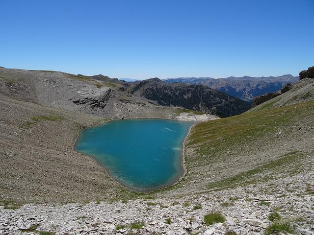 Lake Early Cayolle, Pass Cayolle, Ubaye, Mountain