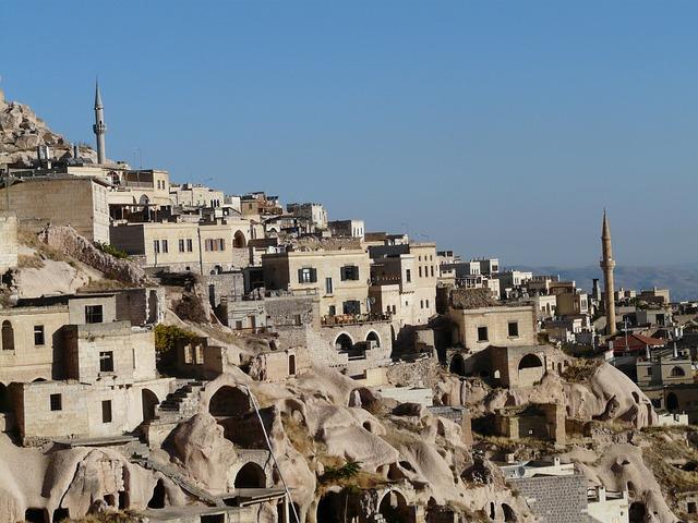 Minarets, Uchisar, Minaret, Tuff Stone Dwellings