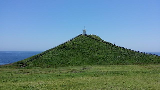 Jeju Island, Ascension, Peaks, Udo, Shiroyama Hiji Peak