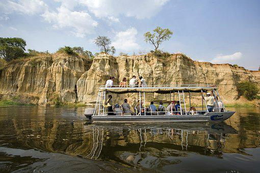 Murchison National Park, Uganda, Tourists, Boat