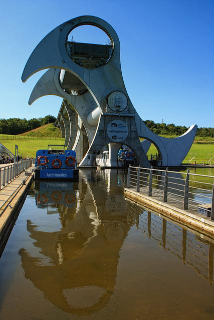 Falkirk, Wheel, Scotland, Uk, Engineering, Lift, Canal