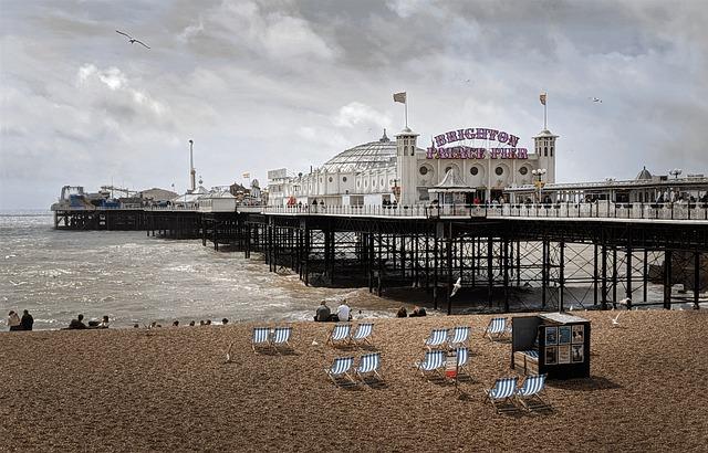 Brighton, England, Sussex, Sea, Pier, Uk, Architecture