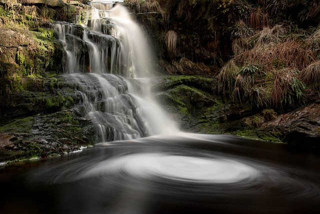 Lead Mines Clough, Rivington, Uk, Waterfall, Water