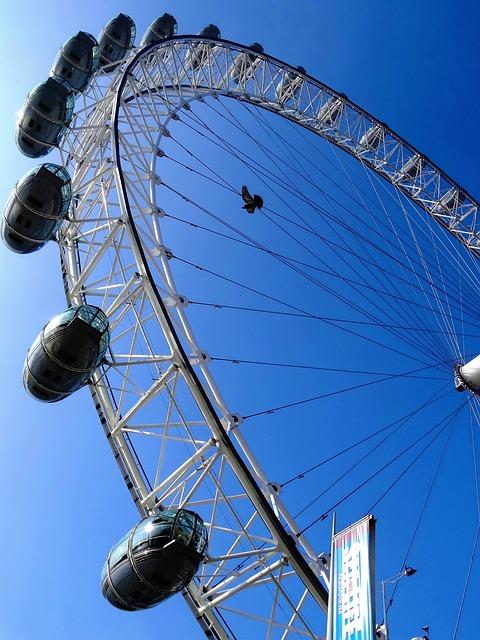 London Eye, Ferris Wheel, Landmark, Uk, United Kingdom