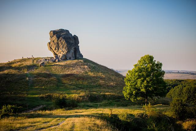 Pidkamin, Rock, Ukraine, Landmark, Landscape, Age