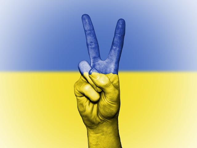 Ukraine, Peace, Hand, Nation, Background, Banner