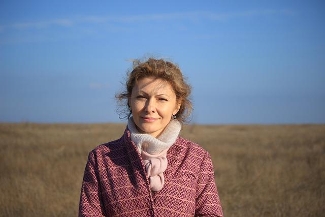 Nikolaev, Morning, Ukraine, Girl, Coat, Field, Sky