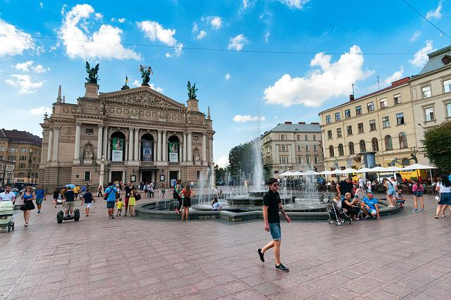 Theater, Downtown, Old Town, Lviv, Lvov, Ukraine, City