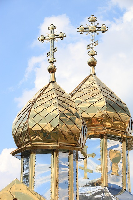 Ukraine, Church, Spire, Cross, Religion, Orthodox