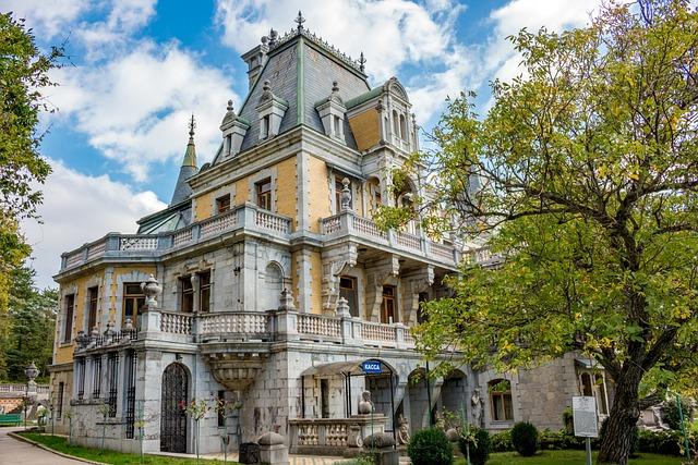 Massandra, Crimea, Russia, Ukraine, Old, Yalta, Palace