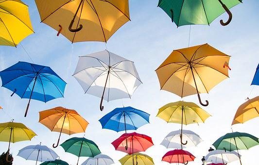 Umbrellas, Sunshades, Cover, Colorful