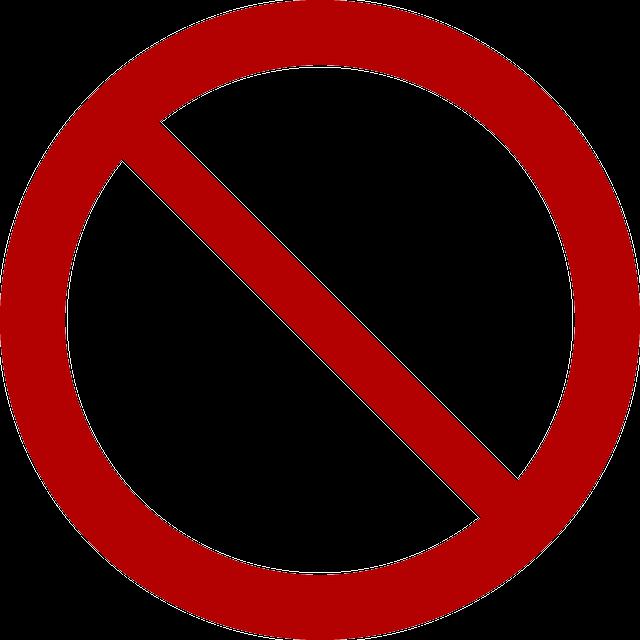 Unauthorised, Denied, Ban, Prohibition, Forbidden