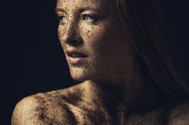 Close Up, Art, Portrait, Young, Dirty, Unclean, Woman