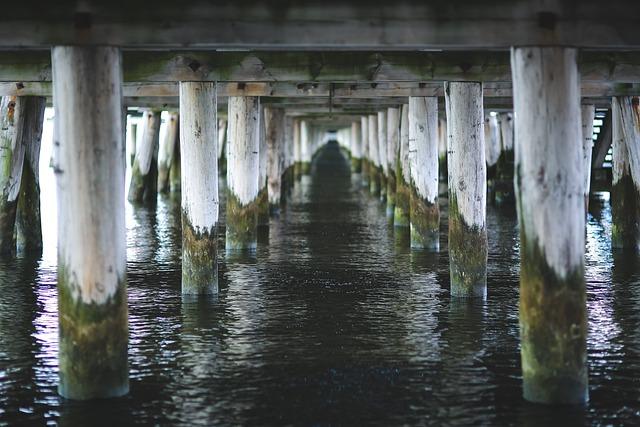 Under, Pier, Molo, Sea, Water, Sopot, Poland, Baltic