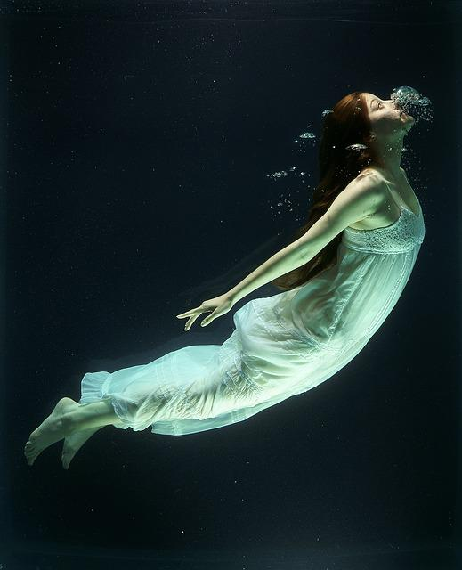 Under Water, Fashion, Woman, Underwater, Diving