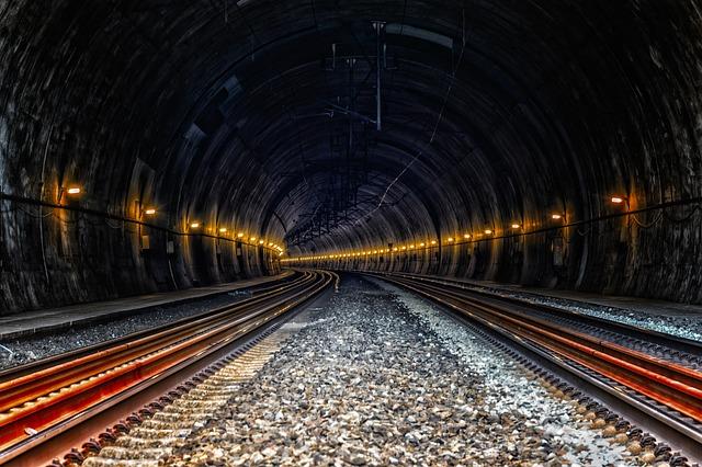 Tunnel, Train, Ice, Rail Traffic, Underground