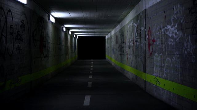 Underpass, Tunnel, Graffiti, Passage, Architecture
