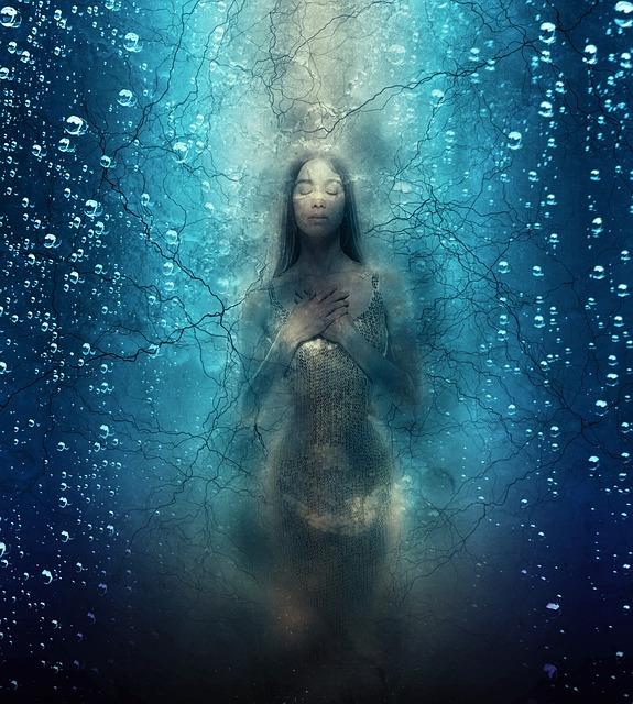 Underwater, Underground, Woman, Creepy, Fear