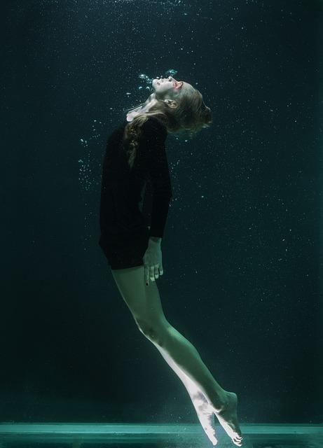 Underwater, Model, Portrait, Beautiful, Fashion Shoot