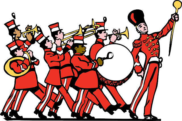 Marching Band, Uniform, Instrument, Percussion, Parade