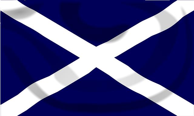 Scottish, Saltire, Flag, Jack, Union, United, Kingdom
