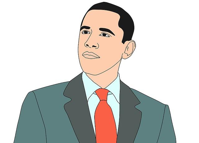 Illustration, Barak Obama, President, United States