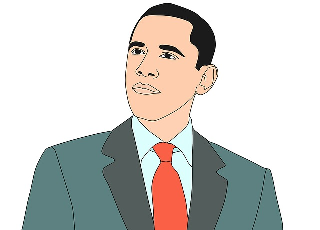 Illustration, Barak Obama, President, United States