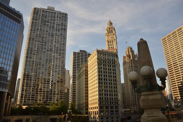 Chicago, Buildings, United States, Landscape, Urban