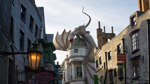 Universal Studios, Harry Potter, Dragon, Hogwarts