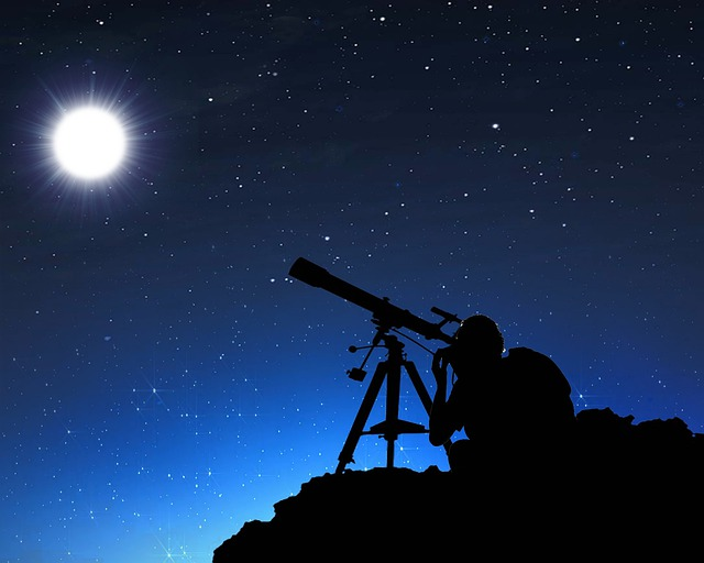 Moon, Telescope, Night, Sky, Universe, Astrology, Star