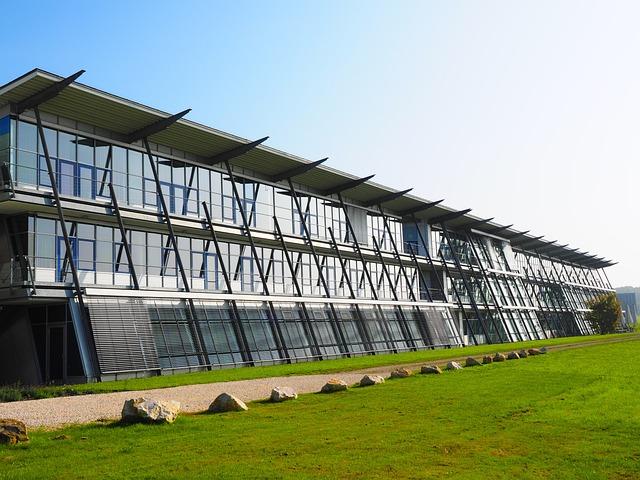 Building, Architecture, Facade, Glass, University