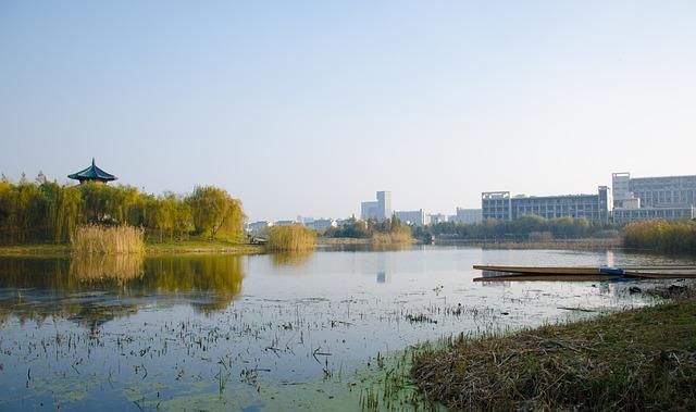 Lake, University, Wuxi, Jiangnan University