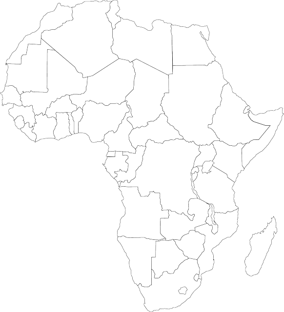 Free photo Unlabeled Map Africa Political African Frontiers ...