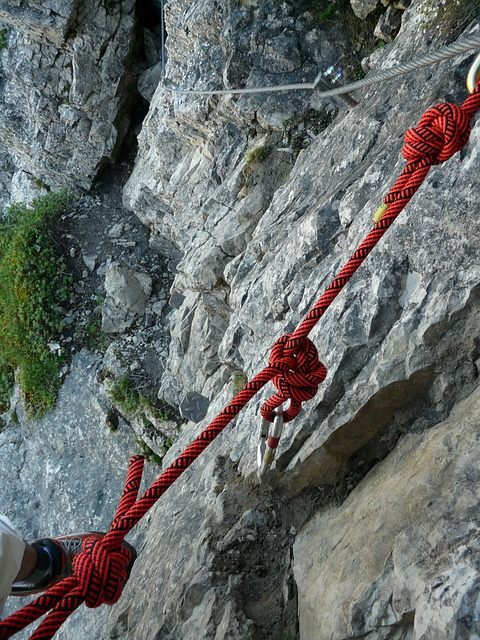 Rope, Climbing Rope, Unmounted, Knot, Carbine, Backup