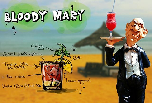 Bloody Mary, Cocktail, Drink, Operation, Upper, Waiter