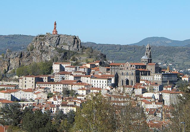 The Puy In Velay, Auvergne, Panorama, Volcanoes, Uptown