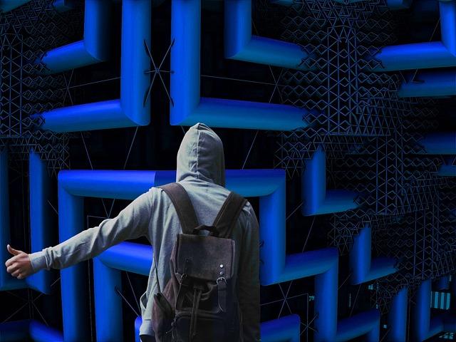 Maze, Blue, Futuristic, Assembly, Urban, Structure