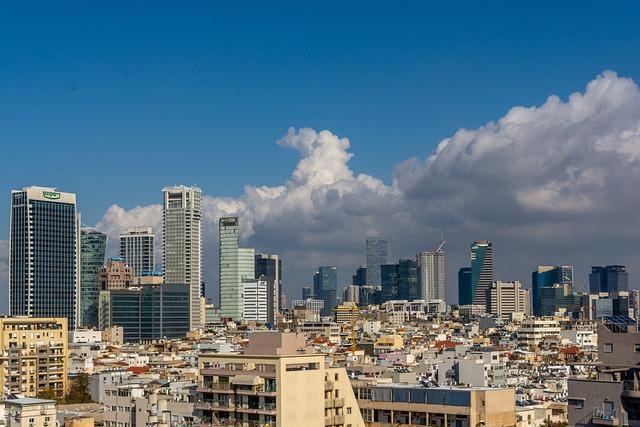 Tel Aviv, City, Urb, Urban, Israel, Summer, Building