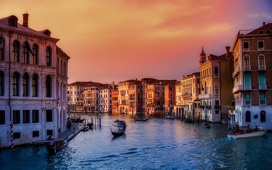 Venice, Italy, Boats, City, Urban, Buildings