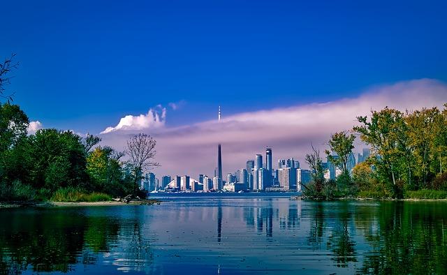 Toronto, Canada, City, Urban, Skyline, Cityscape, Sky
