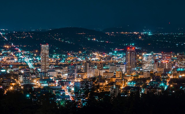 Portland, Oregon, City, Urban, Cityscape, Downtown