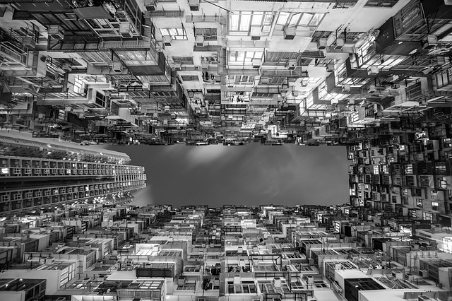 Hong Kong, City, Urban, Perspective, Upward