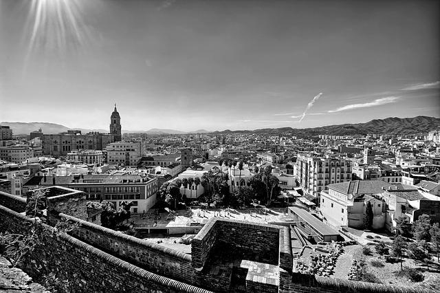 Urban Landscape, Malaga, Alcazaba, Cathedral